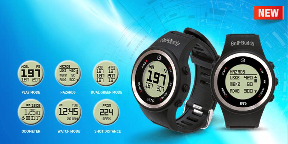 WT6 Golf GPS Watch - Black